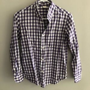 Crewcuts Purple White Gingham Shirt Sz 12